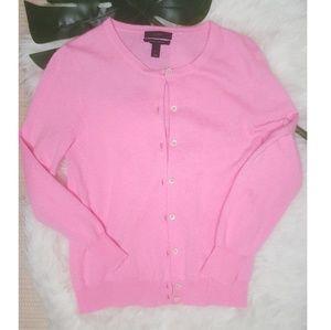 J. Crew 100% Italian Cashmere Pink Cardigan